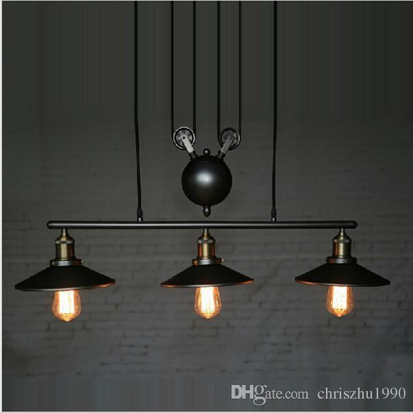 New Design Rh Lightings Retro Iron Pulley Pendant Lights Loft