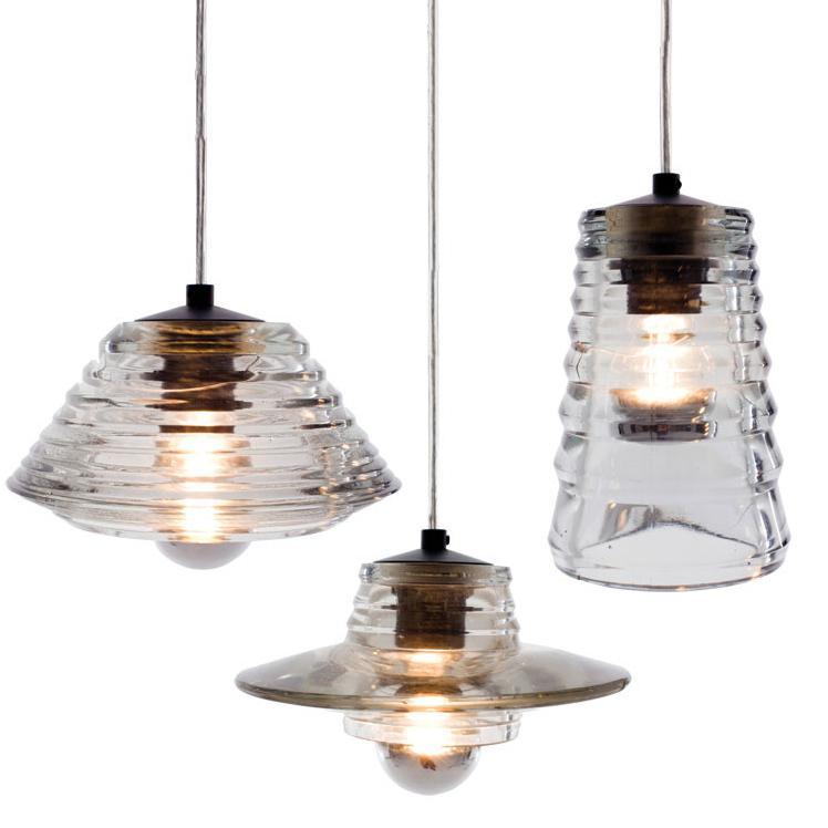 Tom Dixon Pressed Glass Pendant Lens Bowl Tube Lamps Modern ...