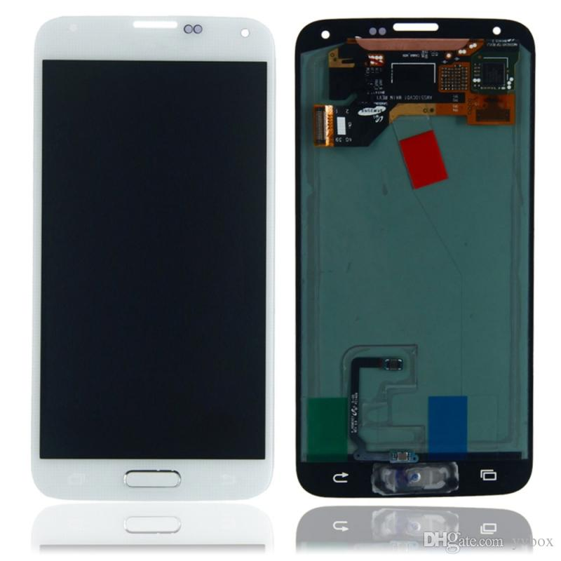 YVBOX B Grade SBI / Dead Pixel Screen For Samsung Galaxy S5 G900 All Carriers LCD Display Digitizer Touch Screen Assembly