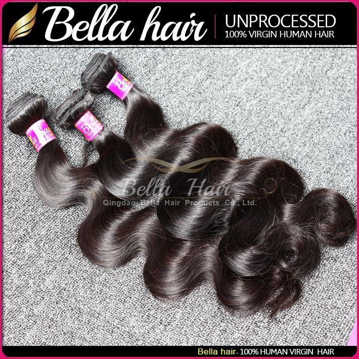 Virgin Mongolian Hair Bundles Remy Extensiones de cabello de onda de cuerpo de trama del cuerpo Grado 9A Color natural 10-24 pulgadas