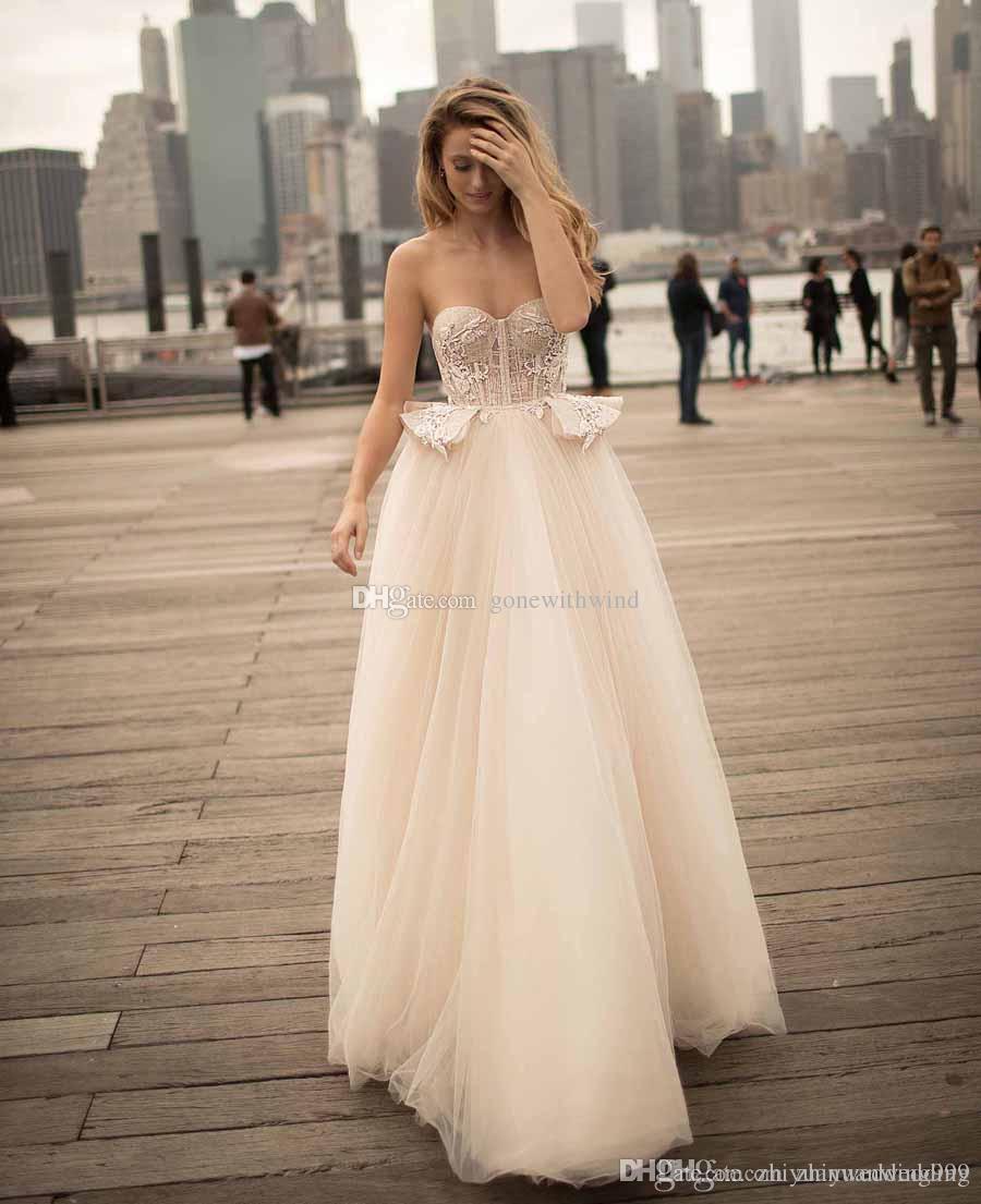 Bustier Peplum Romantic Ball Gown Wedding Dresses 2018 Berta ...