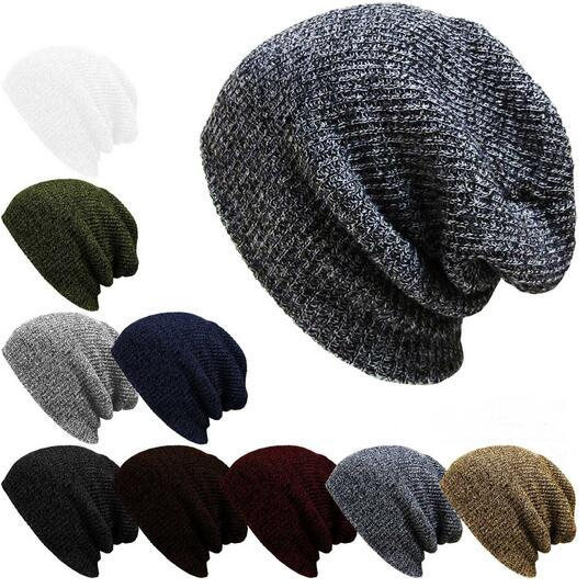134e1454089 Slouchy Baggy Beanie Oversized Thick Cap Skull Hat Cotton Hip Hop Ring Warm  Winter Autumn Unisex Slouch Color