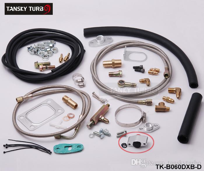 Tansky - Komplettes Turbo-Ölleitungs-Einlass-Rücklauf-Kit mit Sensor T3T4 T3 T4 T70 T04S T04Z T4E TK-B060DXB-D
