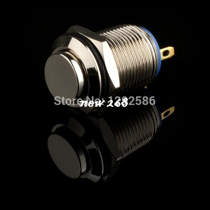 20 pcs/lot High quality 12mm 2Pin Termianls Stainless Steel Momentary Push Button Switch DC36 2A - Waterproof
