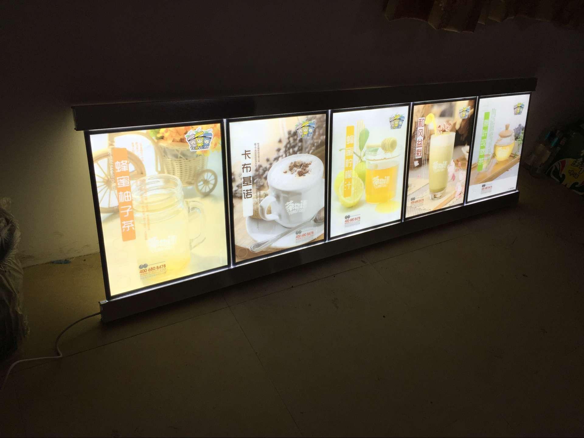 5 X Posters Swift LED MENU BOARD DISPLAY SYSTEM -ILLUMINATED MENU DISPLAY LIGHT BOX