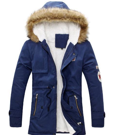 Men s clothing Jacket Mens Warm Parka Fur Collar Hooded Winter Thick Duck Down Coat Outwear Down Jacket Comfortabel Warm Hot Sell Fashion