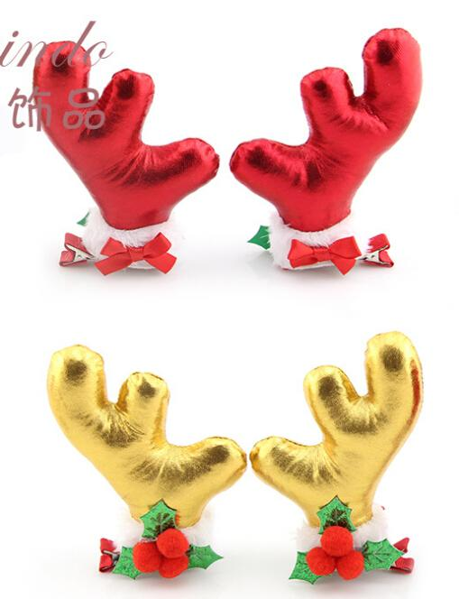 christmas ornaments antlers stereoscopic hair baby