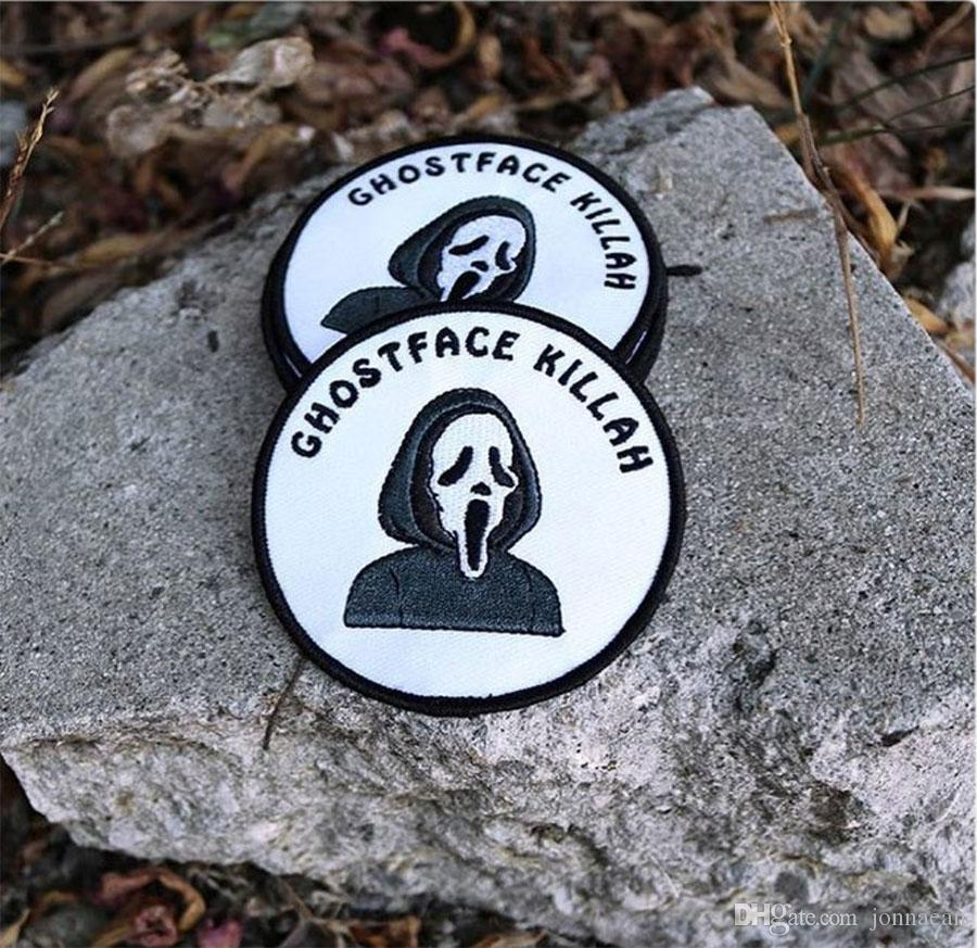 GHOSTFACE KILLAH SKULL MC Front Jacket Vest Embroidered Patch Green Motorcycle Biker Vest Patch Rock Punk Patch /
