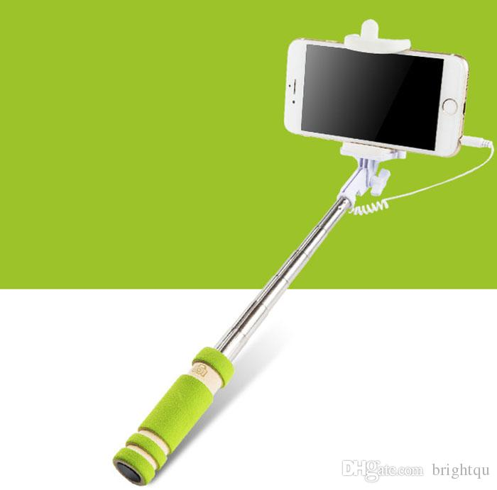 mini extendable foldable all in one monopod for Ios android universal selfie stick support iphone 6 6+ 6S 6S+ PLUS S6 samsung