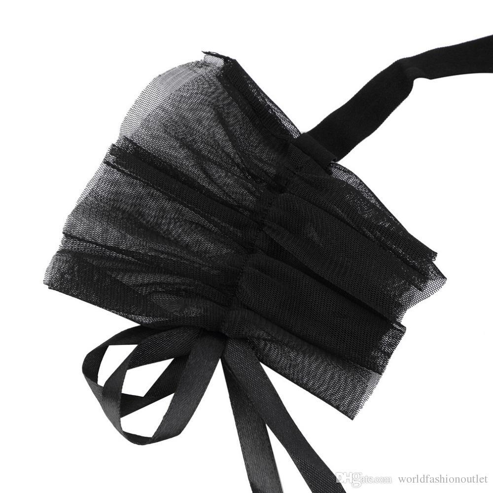 Juegos exóticos para adultos Black Lace Blindfold máscaras esposas mano Bondage Restricciones Restricciones Fetiche para parejas Foreplay Flirt Sex Games Gratis DHL