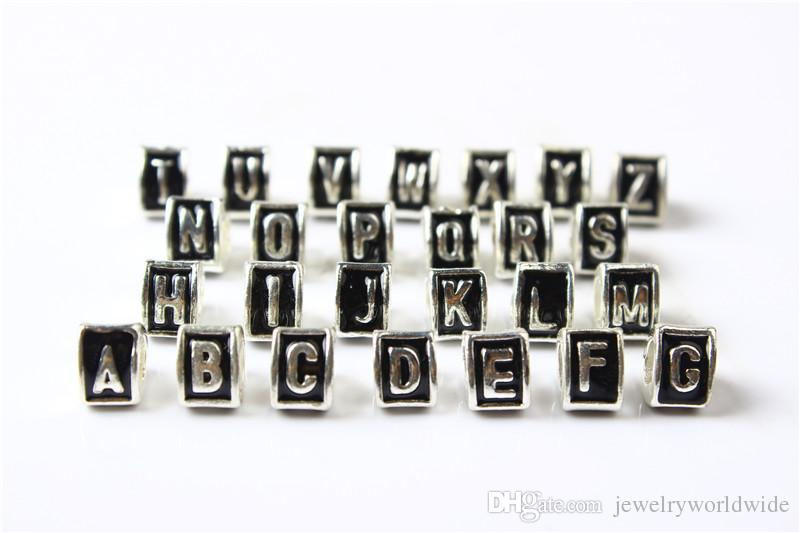 A B C Letter 26 Alphabet Triangle Charm Bead 925 Silver Plated Fashion Women Jewelry Stunning Design European Style For Pandora Bracelet
