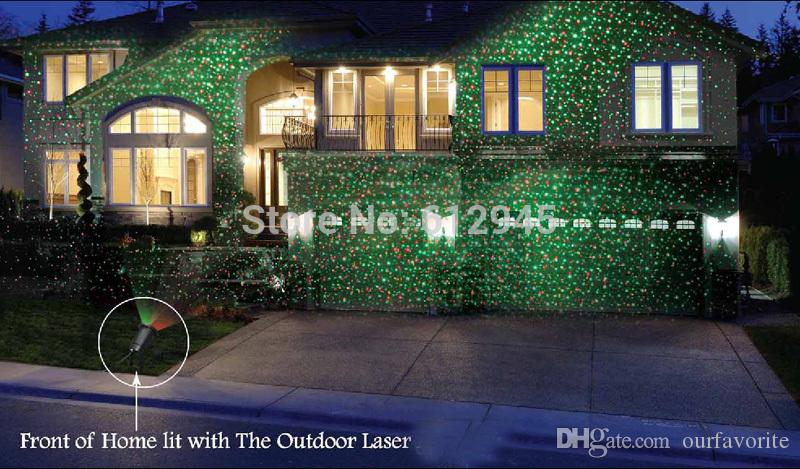 Christmas Waterproof laser Landscape lighting for outdoor.Sky star Green Red laser Projector stage light for outside garden lawn