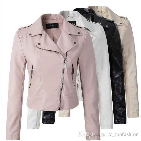 Ordentlich 2017 Neue Frauen Lederjacken Vintage Mode Weibliche Niete Winter Motorrad Marke Mantel Outwear Frühling Freizeitjacke Haus & Garten
