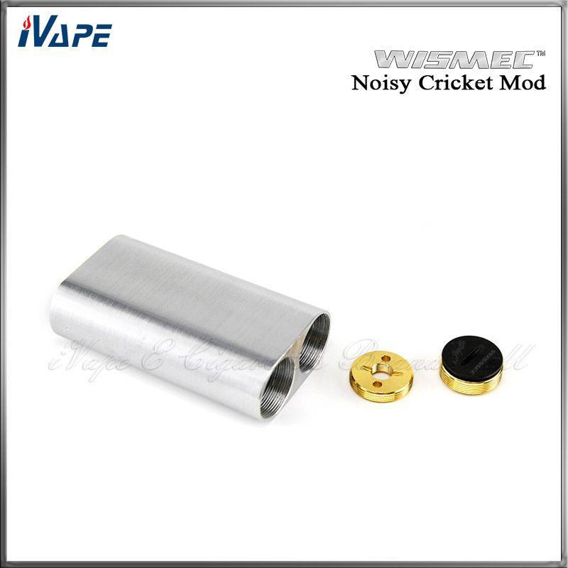 100% Original Wismec Mod Cricket Noisy SMPL Estilo Botão Adaptador Híbrido Inferior 18650 Caixa Mod Melhor Para Atomizador RDA Indestrutível