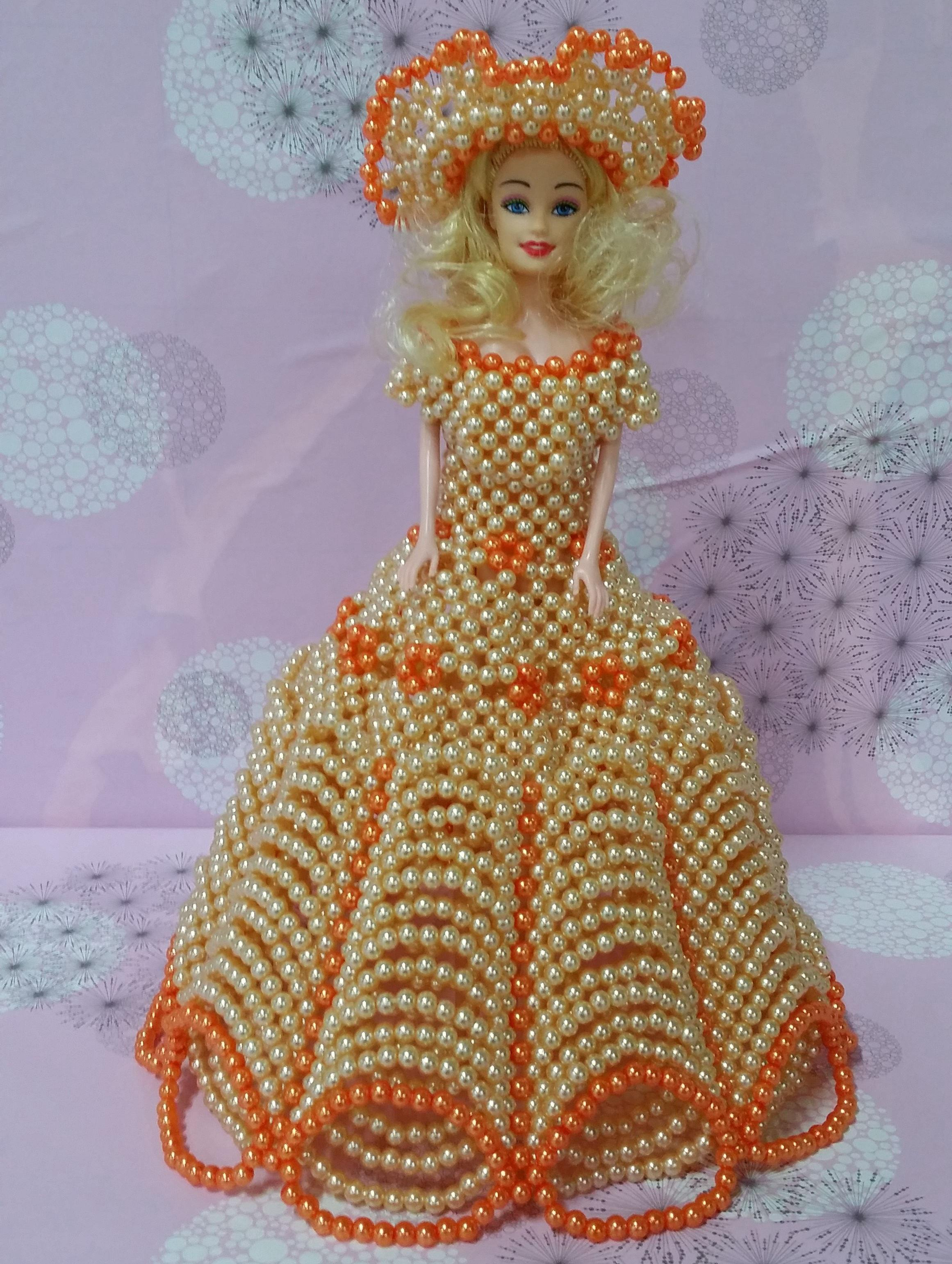 Orange Barbie Toys Doll Birthday Gift For Girls Handmade Custom Made