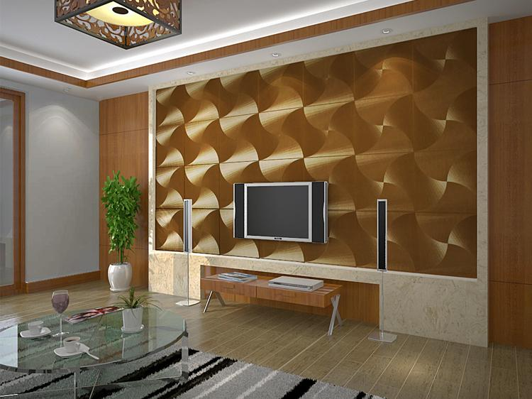 Modern Gold Foil Wallpaper Windmill Reflective PVC Living Room TV Wall Paper Roll Papel De Parede Waterproof 3D Animated Desktop Wallpapers