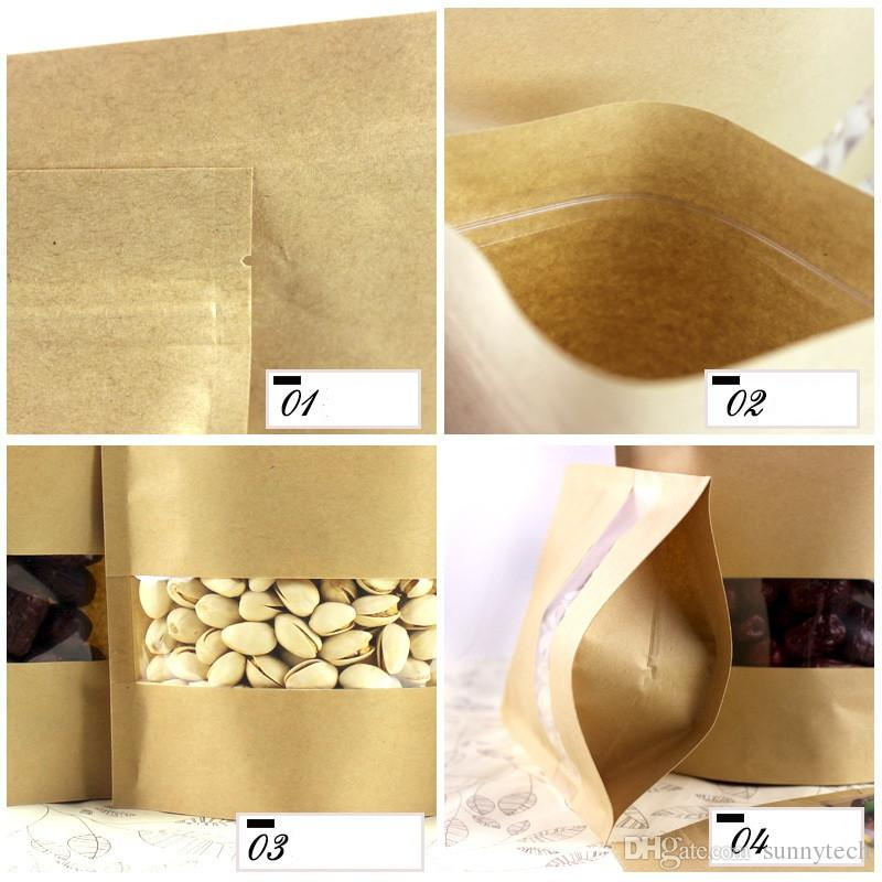 حامل حقائب يصل ورق كرافت حزمة W متجمد نافذة / بسكويت الدوي حزمة زيبر التخزين الحقيبة LZ0492