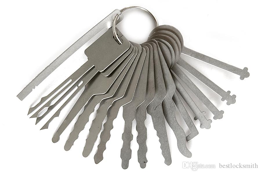 / Set Block Picking Keys Auto Blocksmith Tools Strumenti Blocco Picks Jigglers for Double Sided Block Picking Picks set Aprizziere auto