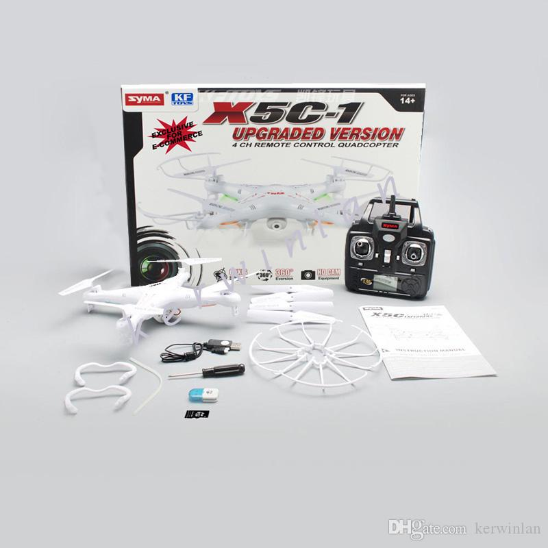 RC Helicopter Quadcopter Syma X5C-1 New X5C 2.4Ghz 4CH 6-Axis Gyro 2GB TF Card with 2MP HD Camera RTF Kids Toy