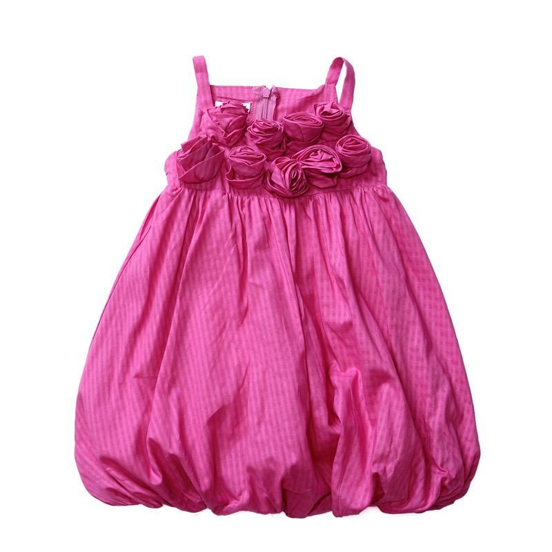 Flicka sommar klänning barn blomma kläder barn kläder tjejer boll klänning söt baby flicka rosor klänningar
