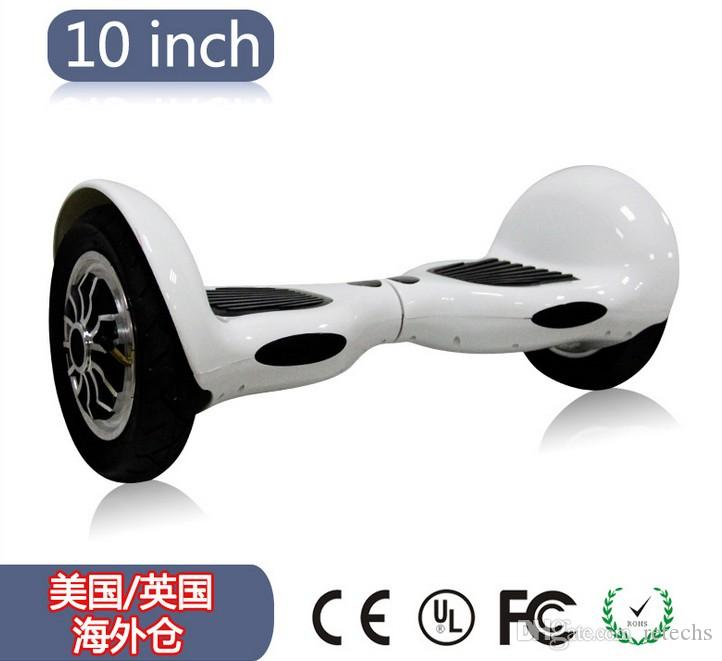chrome scooter led rgb electric hoverboard Self Balance Scooter 10 inch samsung battery 4.4A سحب عجلة سكوتر الكهربائية مع هوائي الإطارات
