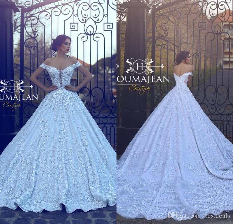 Arabic 2018 New Designer Ball Gown Wedding Dresses Off The Shoulder ...