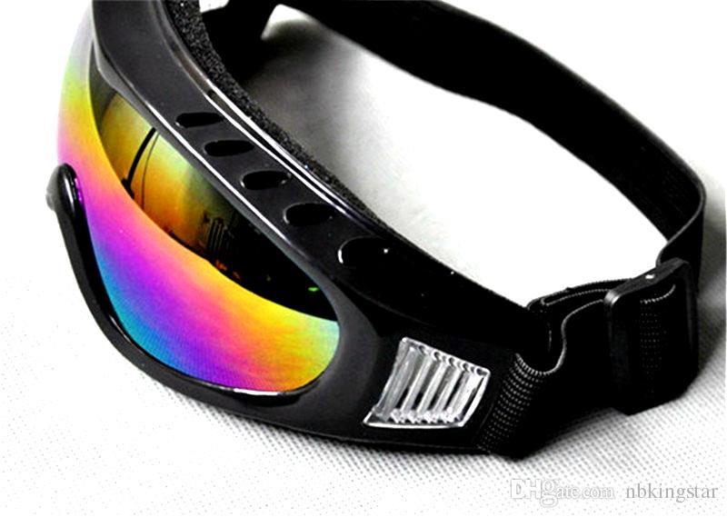 الرجال السود إطار الثلوج غوغل الغبار واقية يندبروف الثلج تزلج تزلج نظارات التزلج في الرياضة واقية نظارات السلامة 12 قطعة / الوحدة