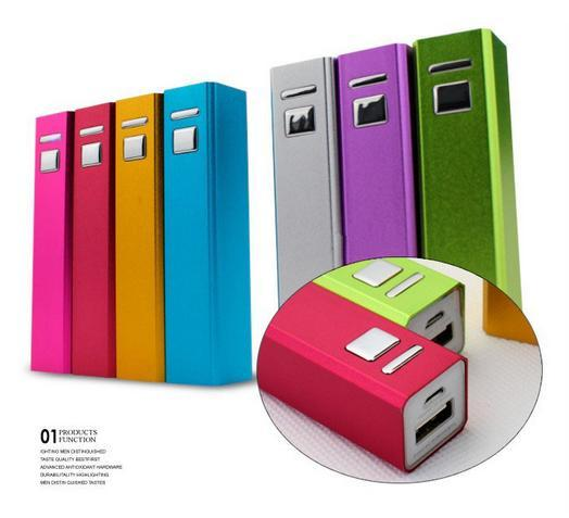 2600mAh Mini Square Powerbank with Switch Button External Mobile Battery Emergency Portable Travel Power Bank Charger for Cell Phone MP3 MP4