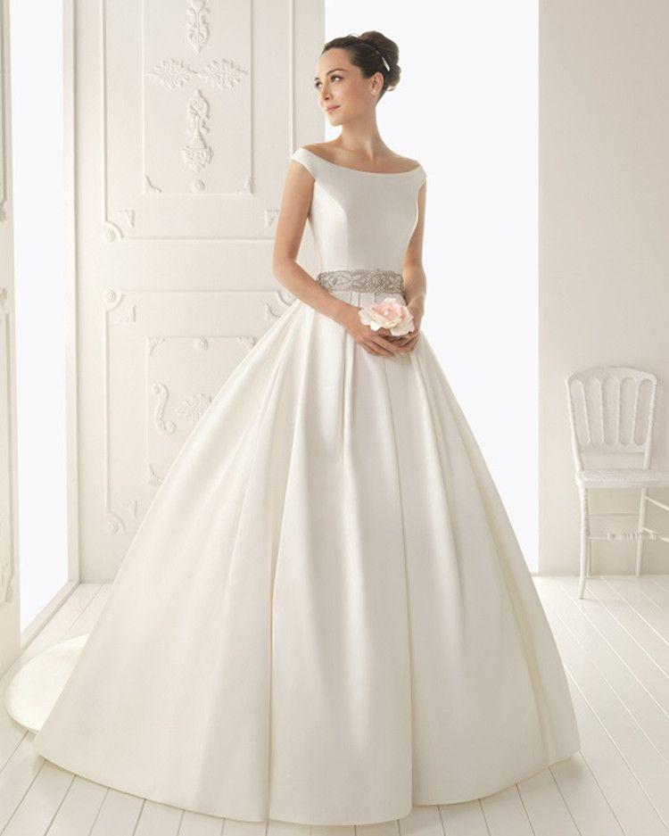Tw166 Sexy Simple Satin Cheap Fashionable Plus Size Wedding Dress 2017 Bridal Beads Sash Gowns Vestido De Noiva Custom Made Long Evening Low