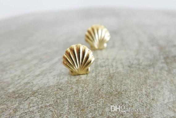 30 par de aretes de concha de almeja de mar de oro y plata Pendientes de concha de mar Pendientes de concha de playa Ariel náutico Sirena Pendientes Joyería
