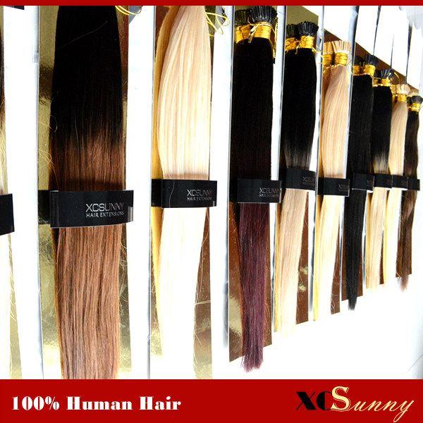 Xcsunny 1820 I Tip Hair Extensions 100gpk Keratin Fusion Hair