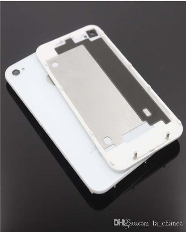 High quality Replacement Back Glass Battery Housing Door Back Cover Replacement Part With Flash Diffuser For iphone 4 4G 4S wholesale