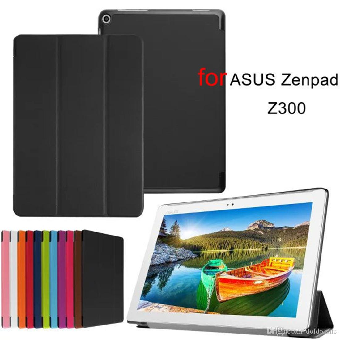 """PU Leather Cover Case with Stand for ASUS Zenpad 10 Z300C Z300CL Z300CG 10.1"""" Tablet + Screen Protector Protective Film as free gift"""