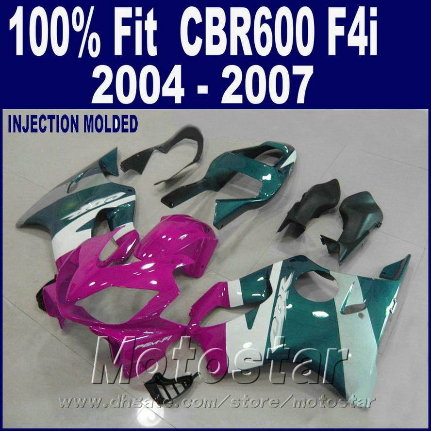 100% Injection molding plastic for HONDA CBR 600 F4i fairings 2004 2005 2006 2007 fairing kits cbr600 f4i 04 05 06 07 HASX