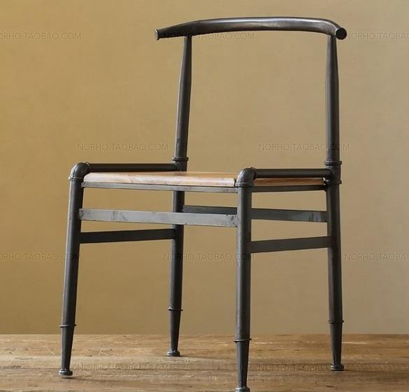 Paese americano a fare il vecchio vintage in ferro battuto sedie da bar in  legno antico sedia lounge chair tubo sedia da conferenza