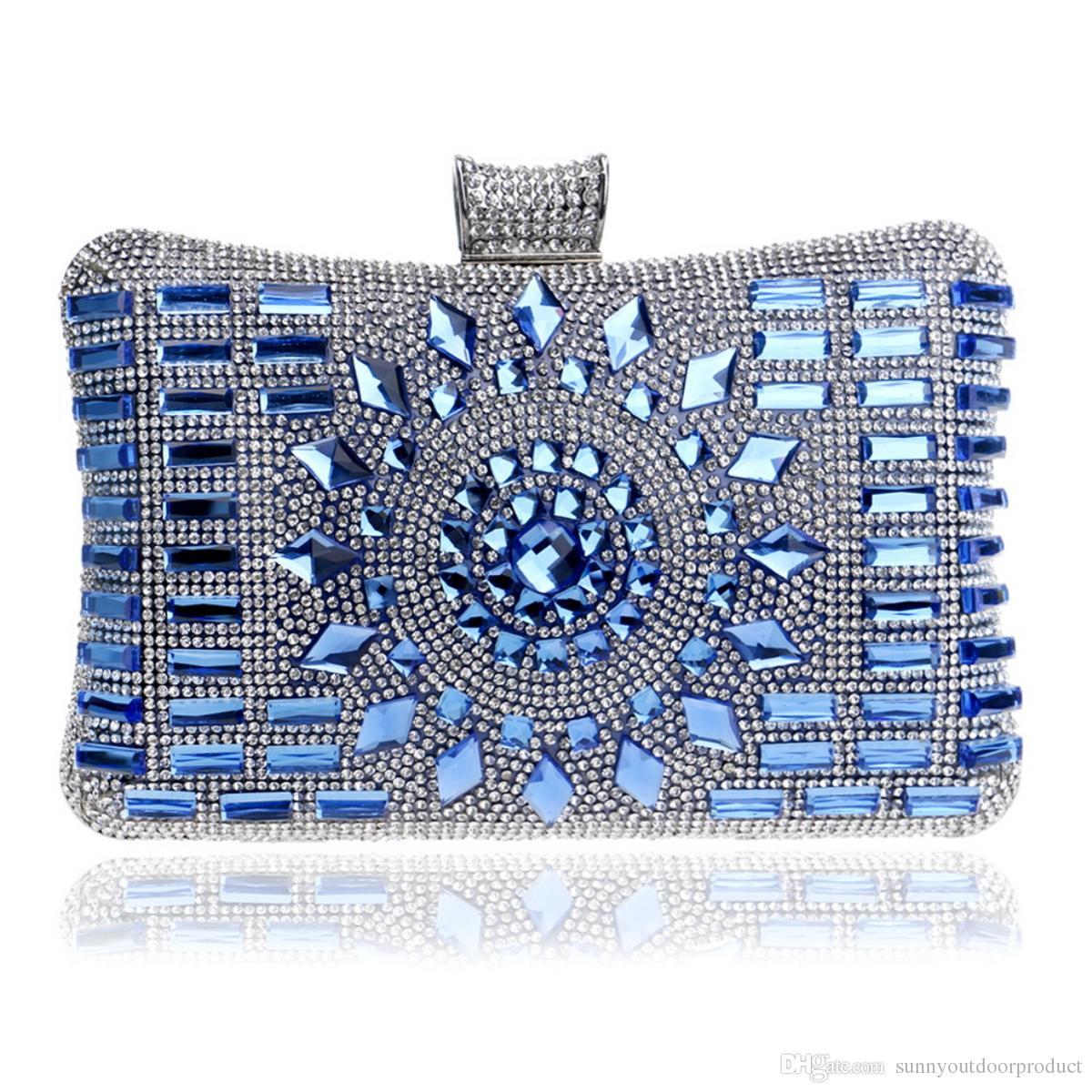 cb0412b188b New Fashion Women Diamond Rhinestones Crystal Evening Bag Lady Clutch Bag  Shoulder Bag With Chain Bridal Handbag Purse For Wedding Dinner Purses For  Sale ...