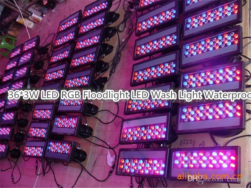 36*3W RGB LED Wall Washer Waterproof Floodlight RGB Stage Lamp Outdoor Light LED Par lamp LED Wash Light Effect Light IP65