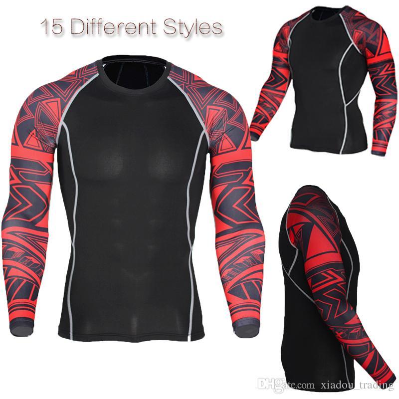 Acheter 7 Yards Hommes Fitness T Shirt Impression De Crâne Respirant  Formation Vêtements De Compression Gym Polyester Collants Élastiques Mode  Europe Spend ... b0a3151a641