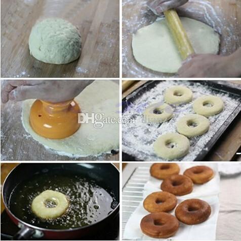 Fashion Hot Donut Maker Cutter Mould Fondant Cake Bread Desserts Strumento di stampo da forno DIY