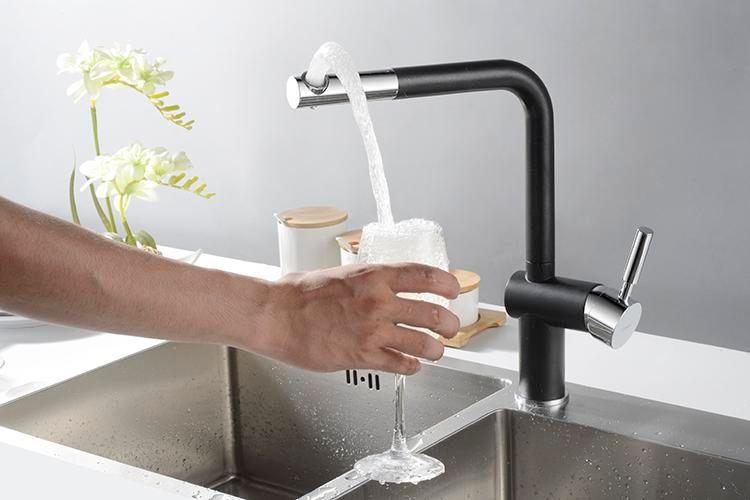 Rolya Unique Patent Design High Quality Brass Single Lever Sandbeige Painted Kitchen Sink Mixer Faucet Tap
