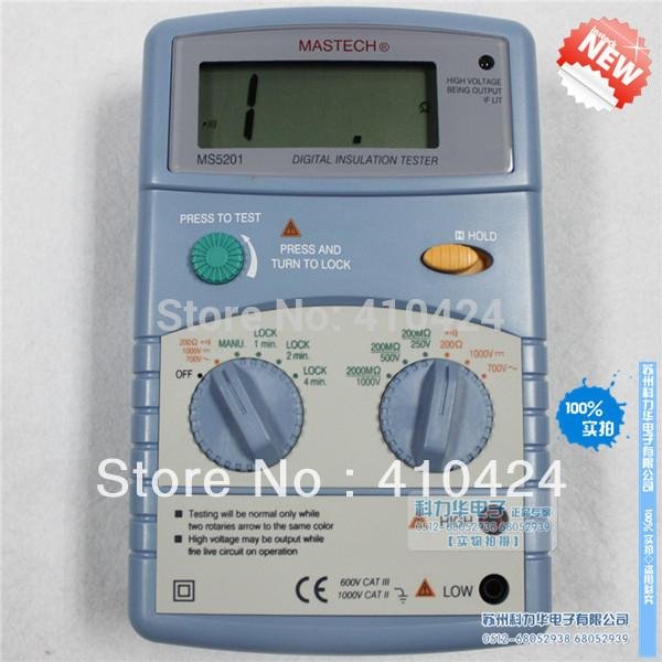 Genuine MASTECH MS5201 Digital Megger , Insulation Resistance Tester ...