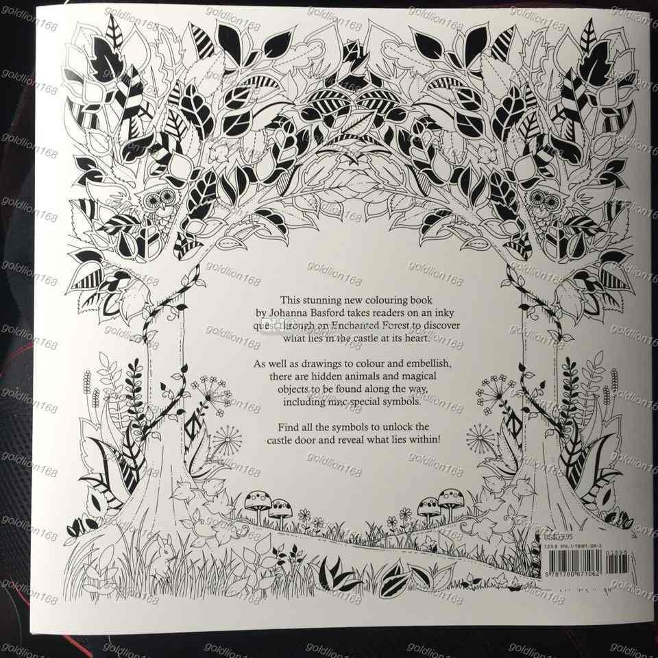 Enchanted Forest 96 Pages English Edition Coloring Book For