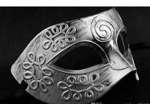 Retro Roman gladiator Halloween party masks man woman children Mardi Gras Masquerade mask Gold and Silver available