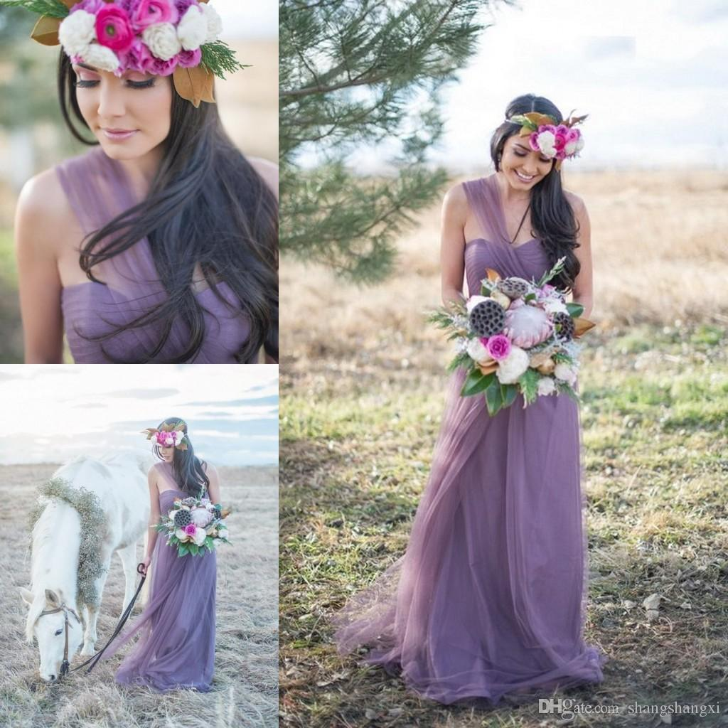 2016 illusion lavender bridesmaid dresses a line one shoulder 2016 illusion lavender bridesmaid dresses a line one shoulder convertible bridesmaid dresses tulle long maid of honor dresses custom made lace wedding dress ombrellifo Gallery