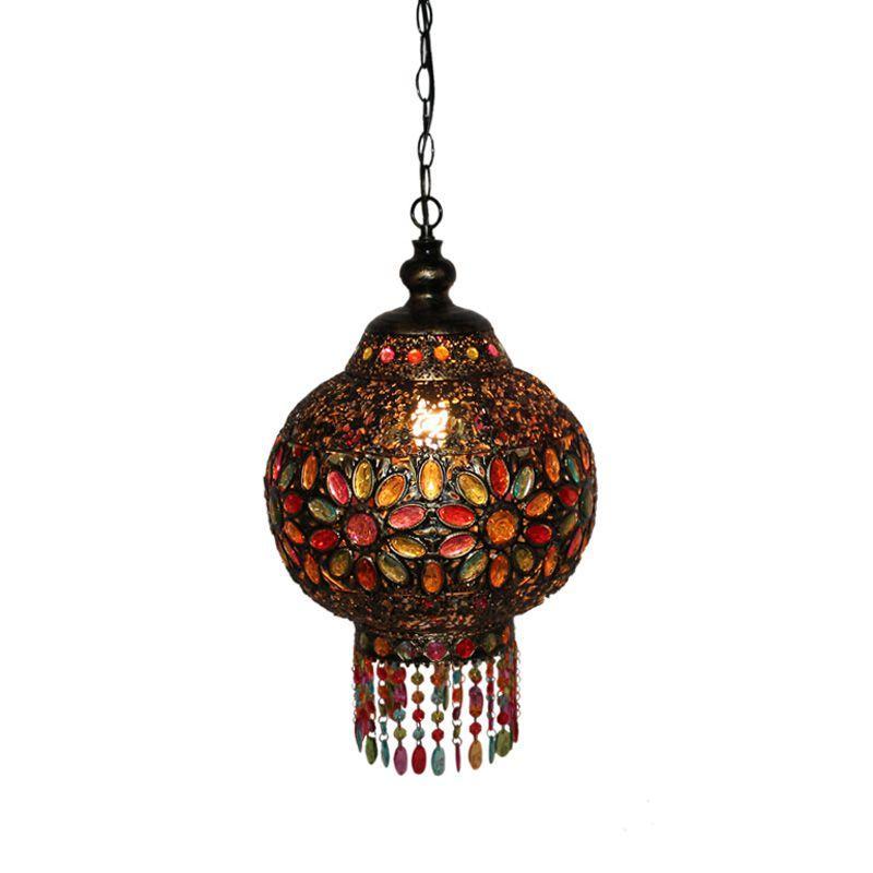 Bohême Vintage Lanterne Chambre Pendentif Lampes Village Salle À Manger Pendent Lumières Balcon Couloir Escaliers Pendentif Lumière