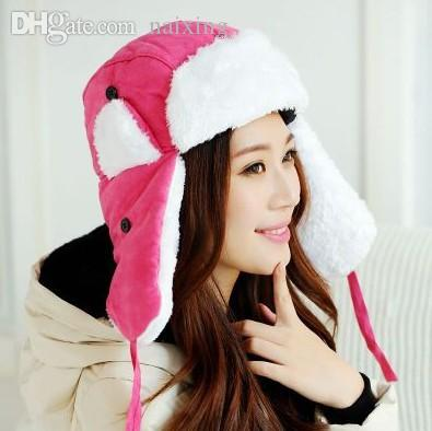 2019 Wholesale 2015 New Women Winter Hat With Earflaps Ski Bomber Hat  Outdoor Snow Ear Flaps Cap Hat From Naixing 6eb0716ce17