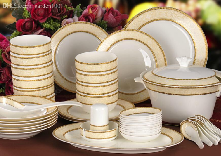 Wholesale Fine Bone China Dinner Set Ceramic Dinnerware Set China Tableware Porcelain Dinnerware Set Colourful Dinnerware Sets Complete Dinnerware Sets From ... & Wholesale Fine Bone China Dinner Set Ceramic Dinnerware Set China ...