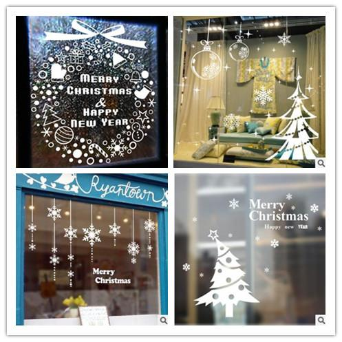 Christmas Removable Wall Sticker 20 Design For Choose Home Glass Door  Window Christmas Decoration Santa Cluase Christmas Tree Stickers Bathroom  Wall Decor ...