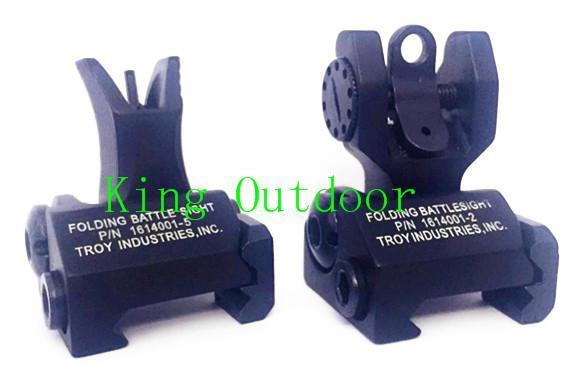 Металлическое железо передние и задние прицелы откидные складные резервные боевые прицелы тактический набор Airsoft охота аксессуары