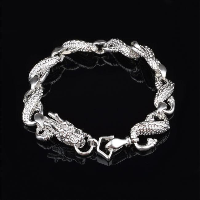 2019 Factory Price 925 Sterling Silver Bracelet Plated Little White